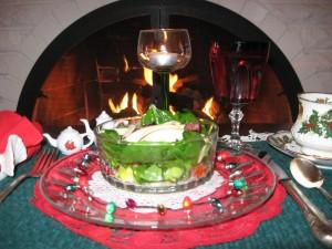 Chery's Christmas salad, photo courtesy of Lydia Harris