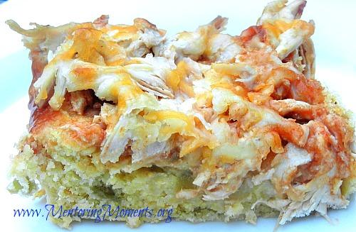 Chicken tamale casserole by Kellie Renfroe for www.MentoringMoments.org