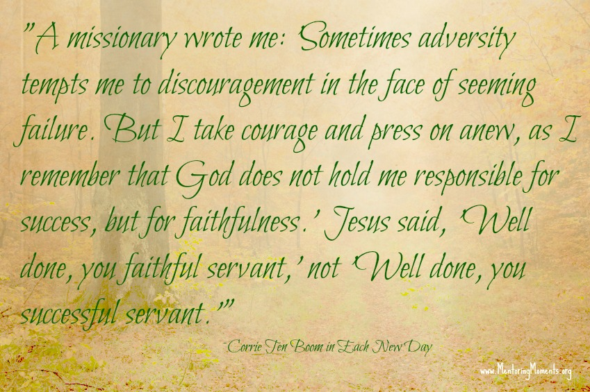 quote by Corrie ten Boom, from her book Every Day