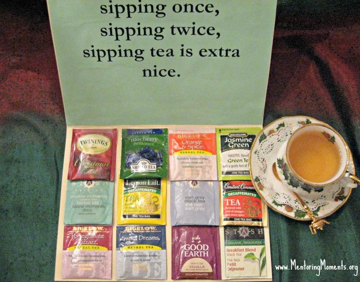 Twelve Teas of Christmas card.