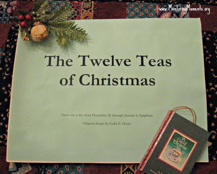 Twelve Teas of Christmas gift cover.