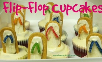 flipflop cupcakes / photo by Kathy Hutto