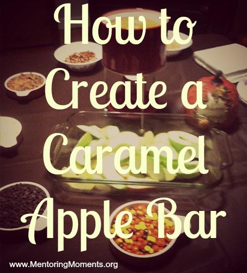 How to Create a Caramel Apple Bar