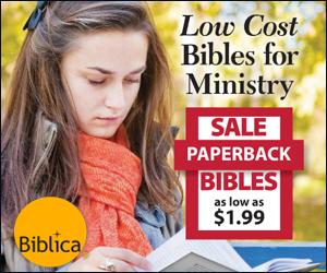 Biblica Low Cost Bibles Banner