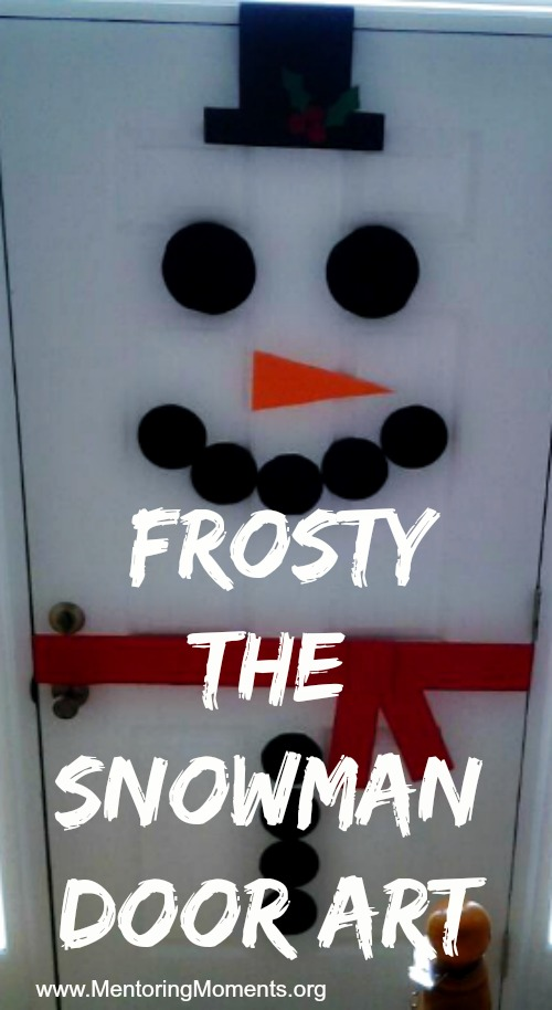 Frosty the Snowman Door Art