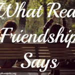 What Real Friendship Says / photo from pexels.com
