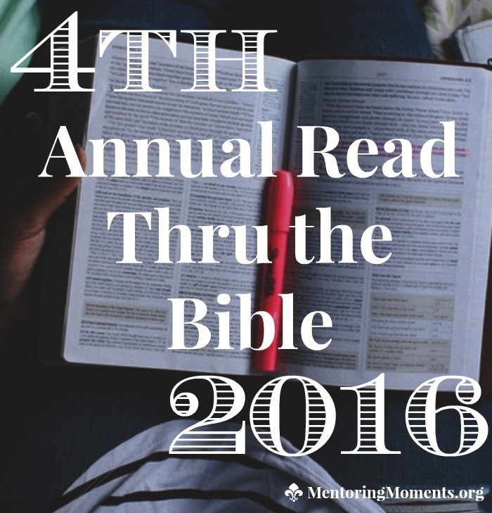 4th Annual Read Thru the Bible 2016