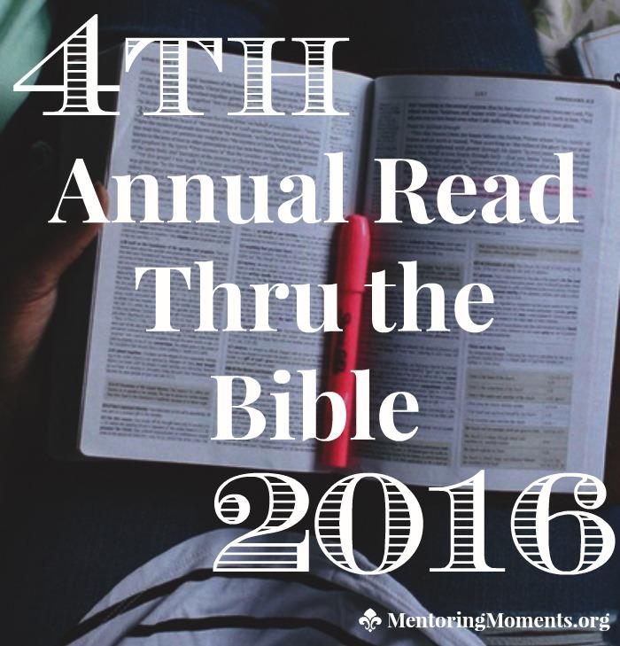4th Annual Read Thru the Bible 2016
